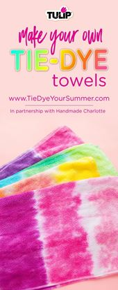 Picture of How To Tie Dye Towels