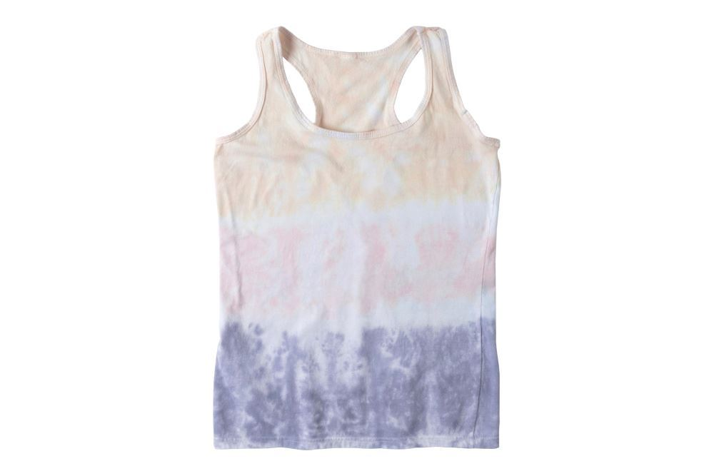 Striped Pastel Tie-Dye Tank Top