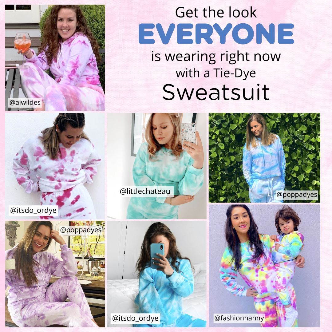 Take it Easy in a Tie-Dye Sweatsuit