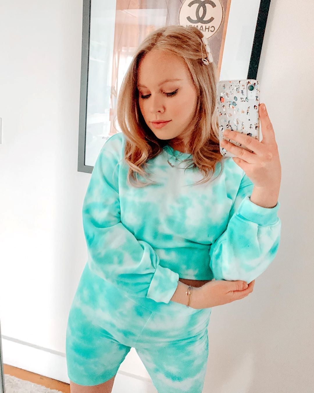 Tie-dye short sweatsuit from @littlechateau