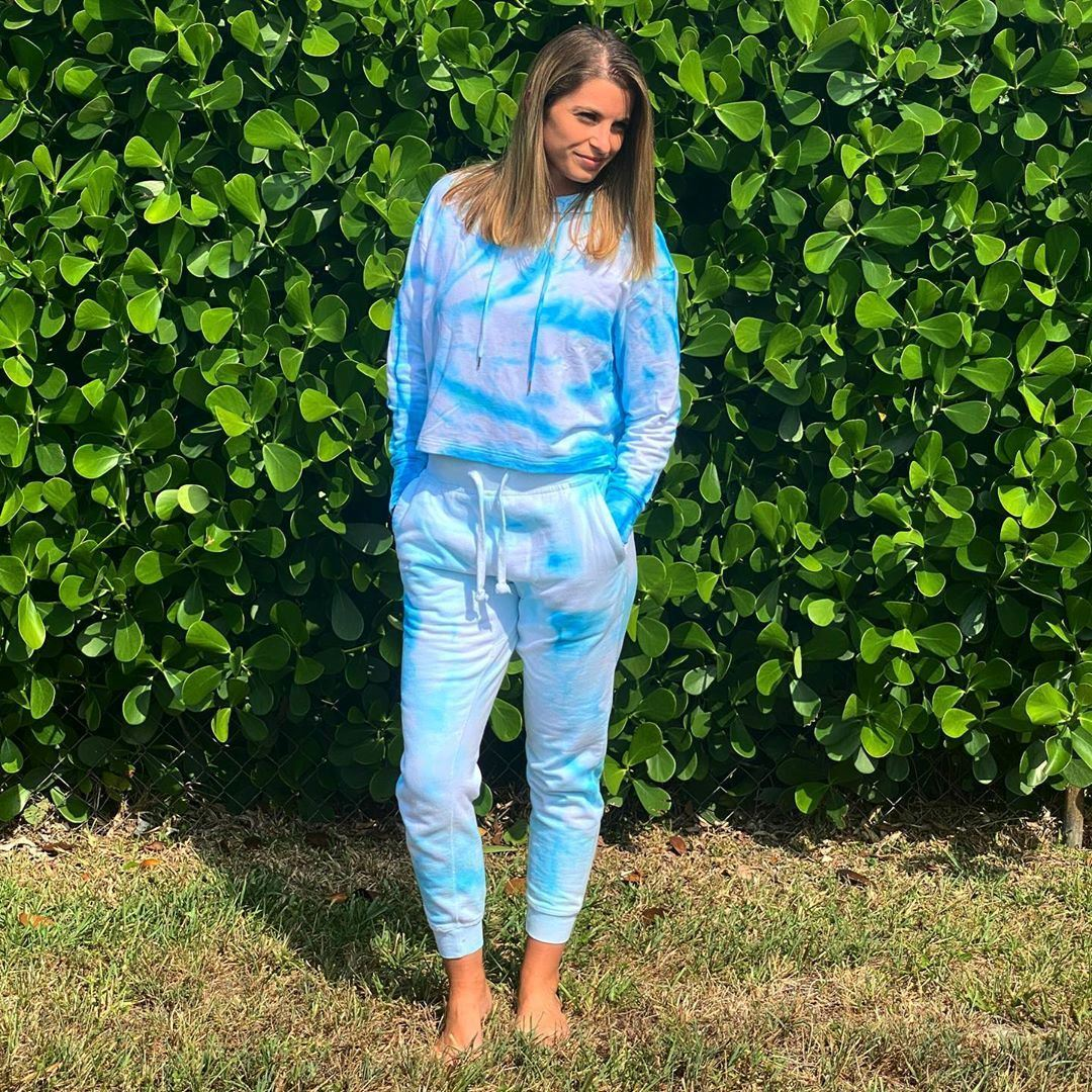 Loose crumple tie-dye sweatsuit from @poppadyes
