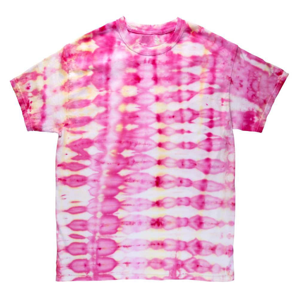 Pleated Stripes Ice Tie-Dye T-shirt