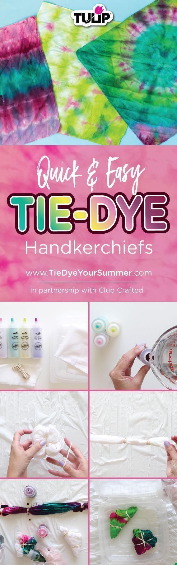 Tulip Quick & Easy Tie-Dye Handkerchiefs