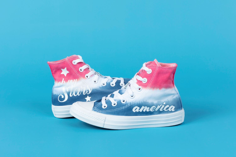 Americana Tie-Dye Shoes
