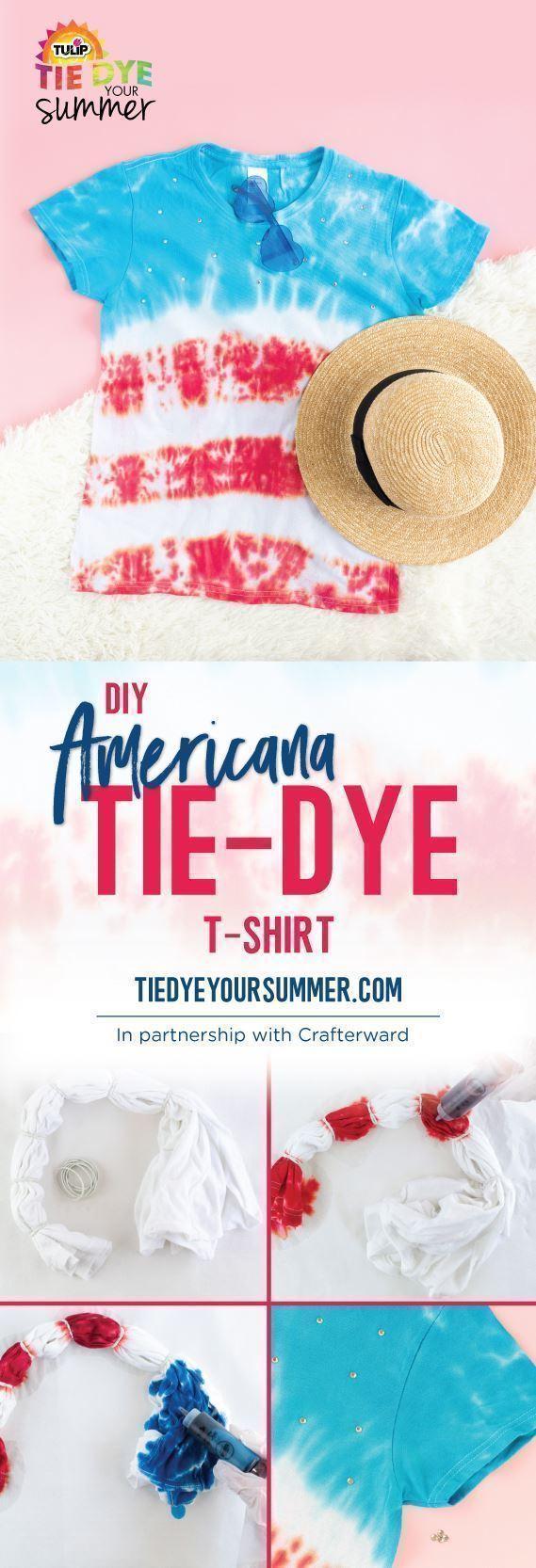 Tulip DIY Americana Tie-Dye T-shirt