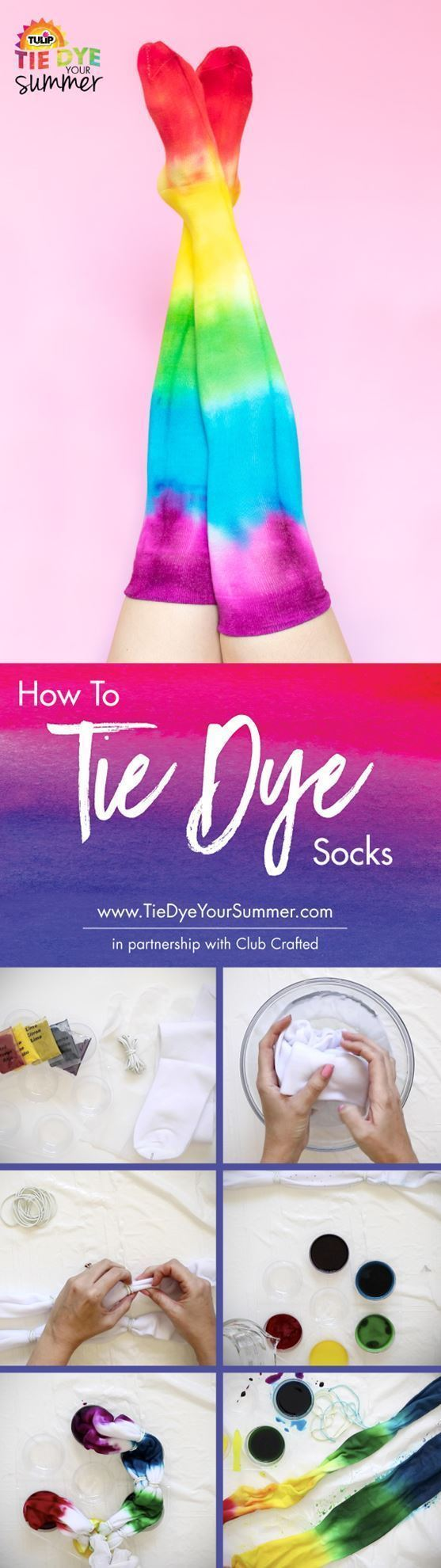 How To Tie Dye Socks The Easy Way