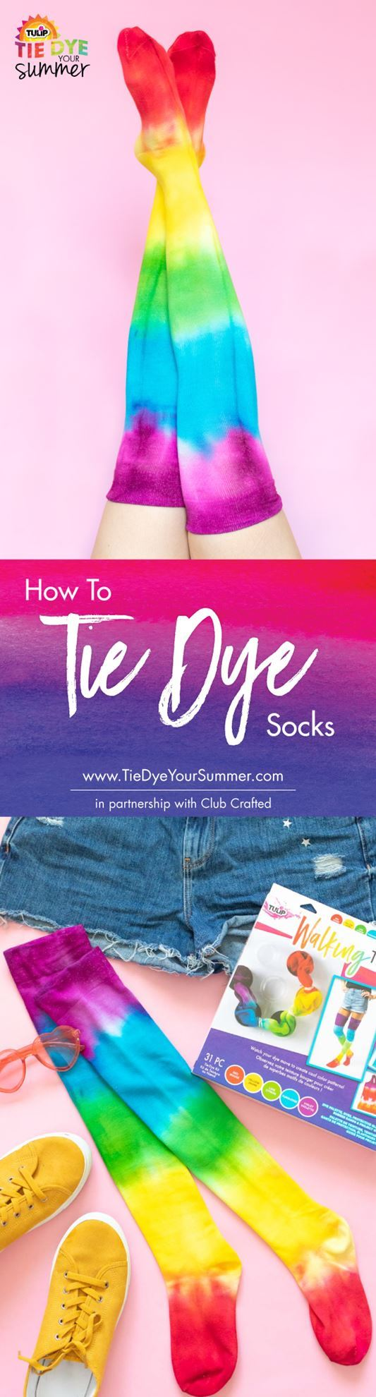 How To Tie Dye Socks The Easy Way