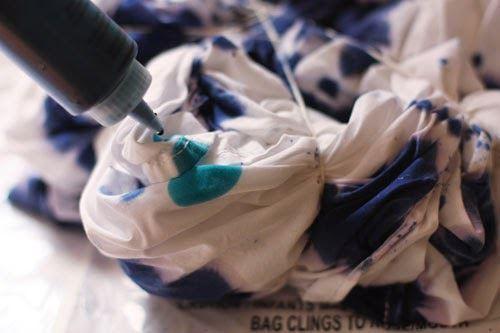 Add dye to bedspread