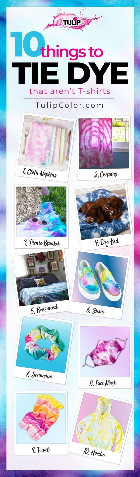 10 Things To Tie Dye That Aren't T-shirts