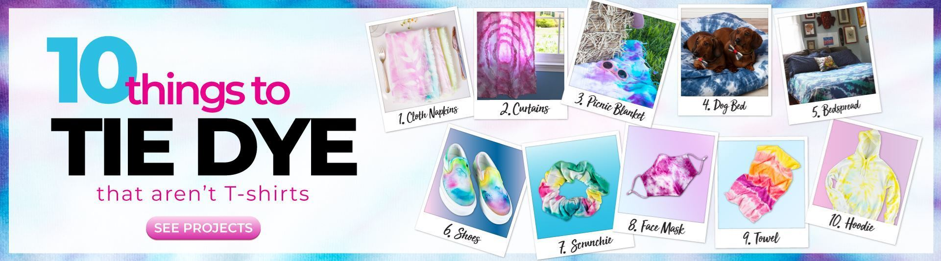 Image 10 Things to Tie Dye That Aren't T-shirts