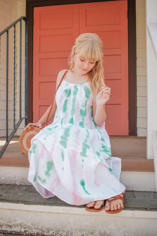 Tie-Dye Slip Dress for Fall Style