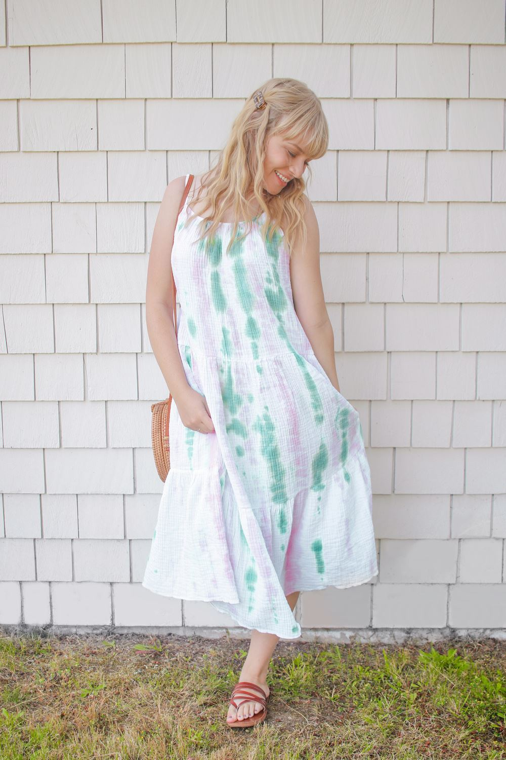 Tulip Tie-Dye Slip Dress