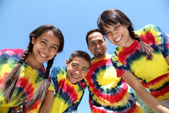 Psychedelic Tie Dye Family