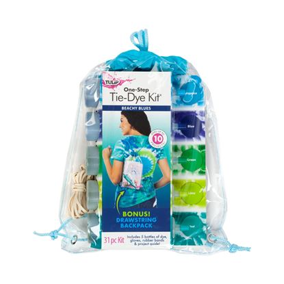Picture of Tulip® Beachy Blues One-Step Tie-Dye Backpack Kit