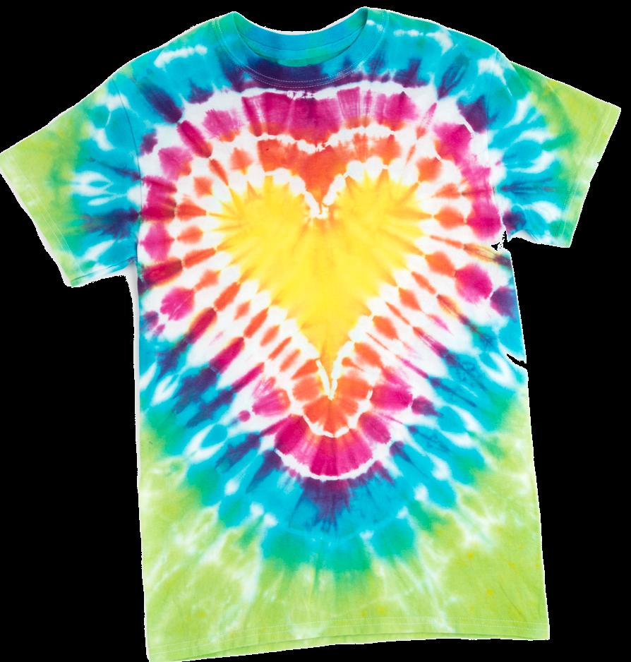 Picture of Heart Tie-Dye Technique