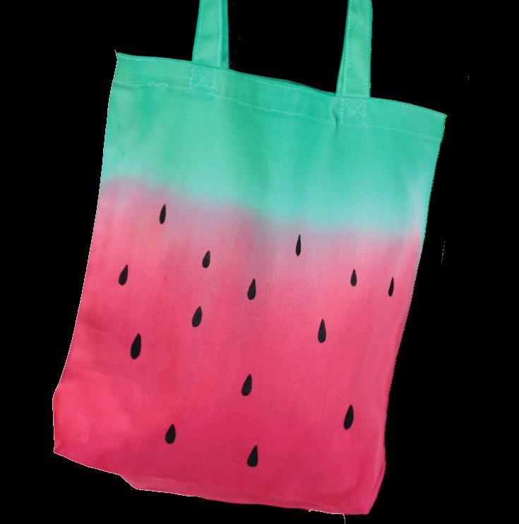 Picture of Watermelon Tie-Dye Tote Bag