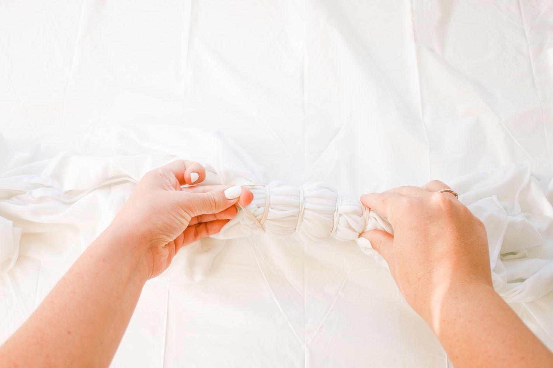 Fold and bind fabric