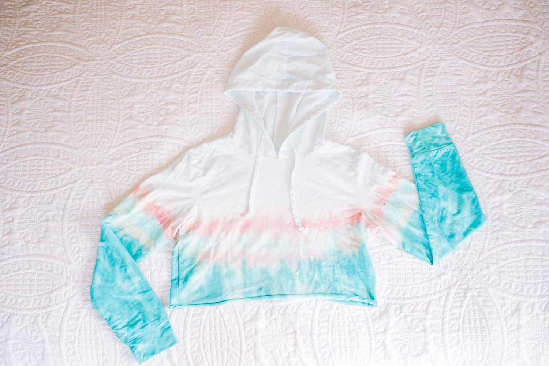 Soda ash tie-dye hoodie