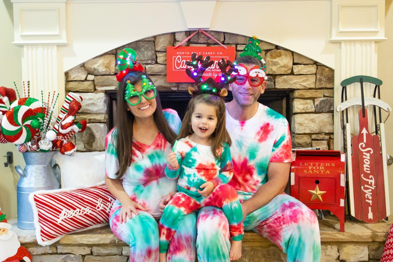 Family Tie-Dye Christmas Pajamas