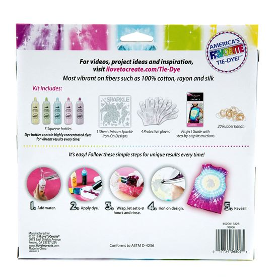 Unicorn Sparkle Tie Dye Kit Back