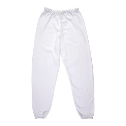 Adult White Sweatpants Large