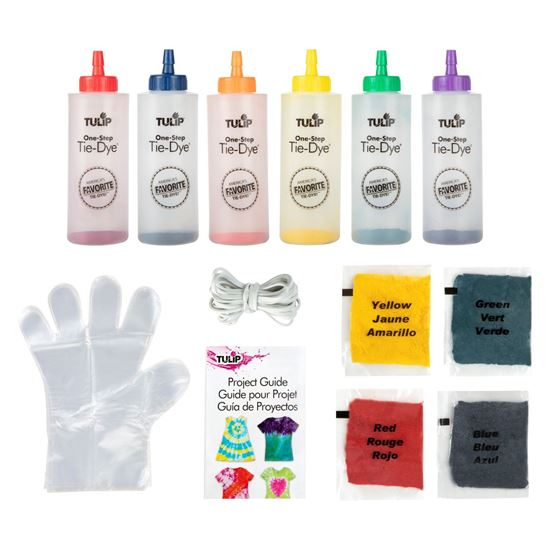 One-Step Tie-Dye Kit Rainbow Color Collection  contents
