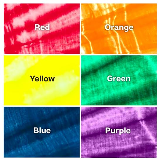 One-Step Tie-Dye Kit Rainbow Color Collection  color swatches