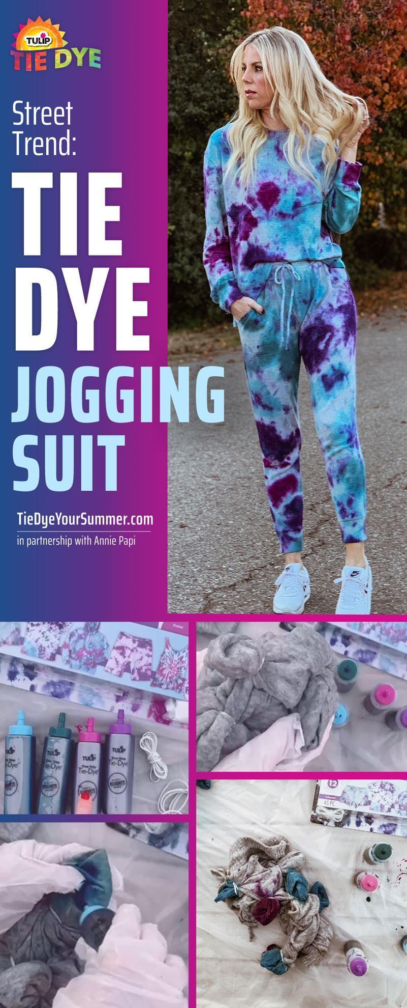 Street Trend: Tie-Dye Jogging Suit