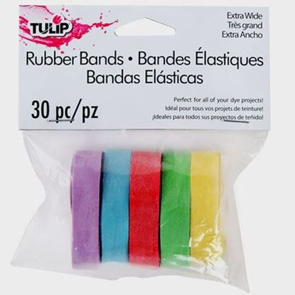 Picture of Tulip® Rubber Bands Extra Wide 30 Pack