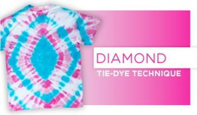 Diamond Tie-Dye Technique