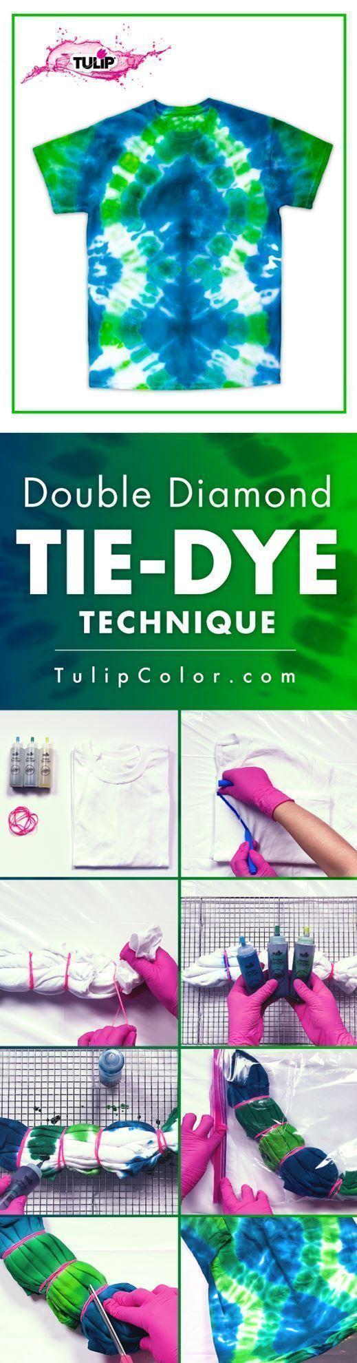 Diamond Tie-Dye Technique