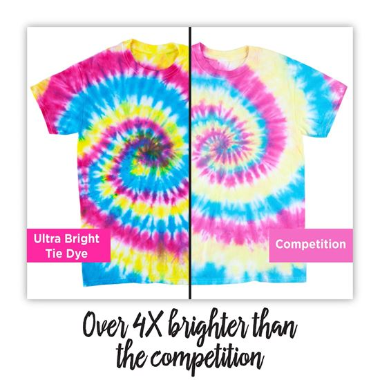Ultra Bright Tie Dye brighter than the competitor