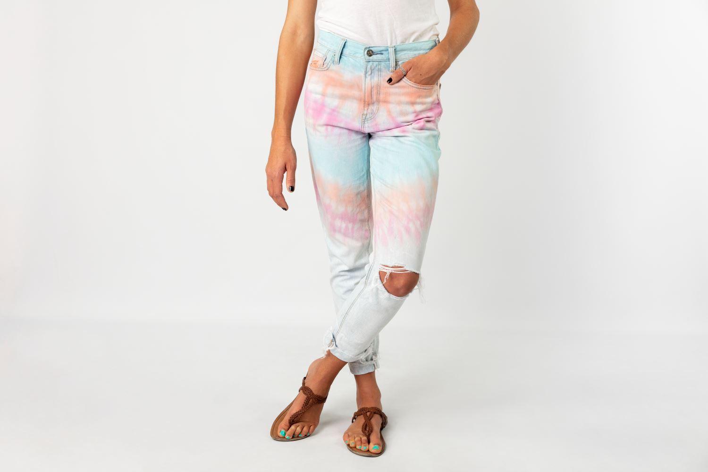 Pastel Tie-Dye Jeans