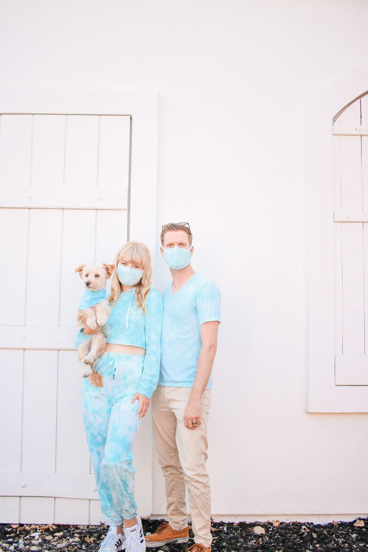 Tie-Dye Loungewear and Masks