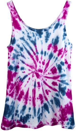 One-Step Tie-Dye Kit Celestial swirl tank
