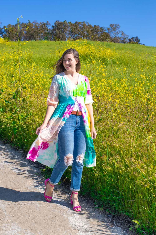 Tie-Dye Summer Kimono