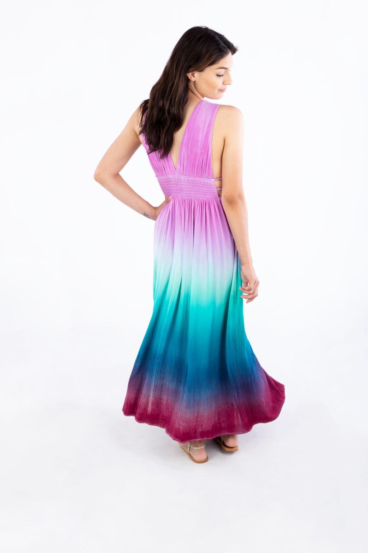 Ombre Tie-Dye Maxi Dress