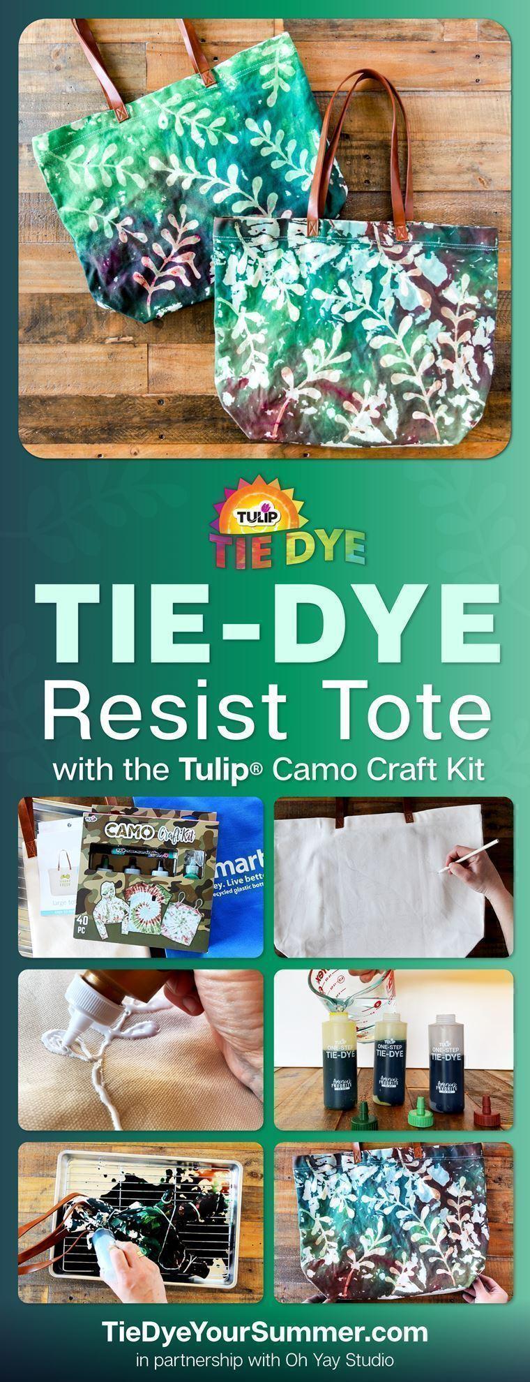 Tie-Dye Resist Tote Bag