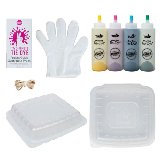 Tulip Two-Minute Tie Dye Kit content