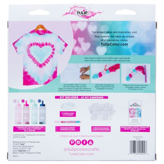 45524 Hearts Technique Tie Dye Kit back of box