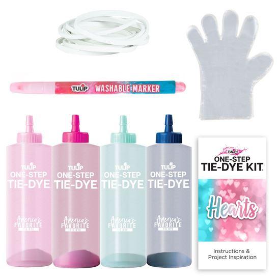 45524 Hearts Technique Tie Dye Kit contents