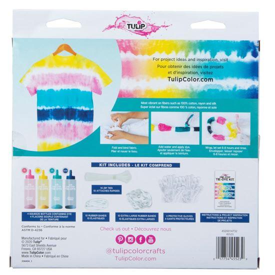 45523 Stripes Technique Tie-Dye Kit back of package