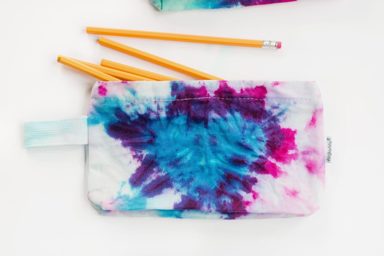 Heart Tie-Dye Pencil Case