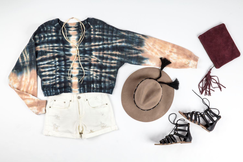 Shibori Tie-Dye Sweatshirt