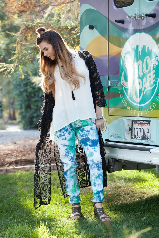 Crumple Tie-Dye Jeans