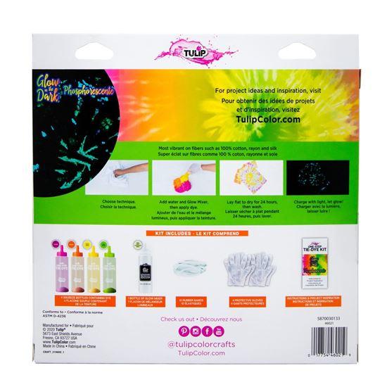46021 Glow Tie Dye Kit back of package