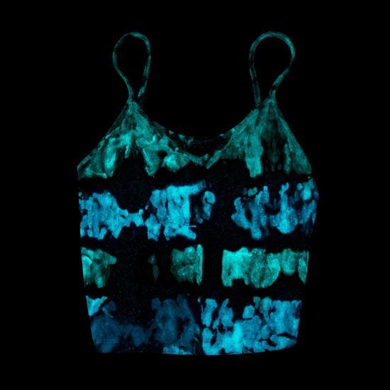 46021 Glow Tie Dye Kit striped tank top project glowing